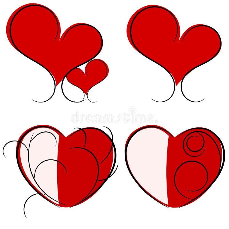 Ilustração vermelha do coração ilustração stock