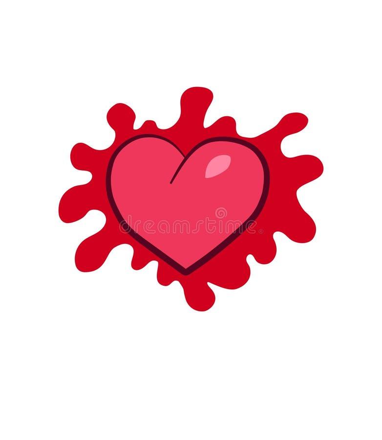 Ilustração vermelha do coração do vetor ilustração royalty free