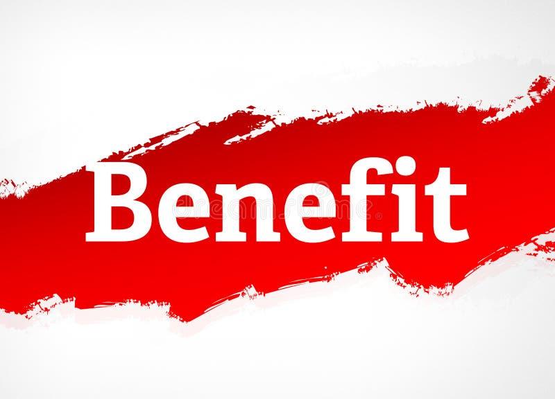 Ilustração vermelha do fundo do sumário da escova do benefício ilustração do vetor
