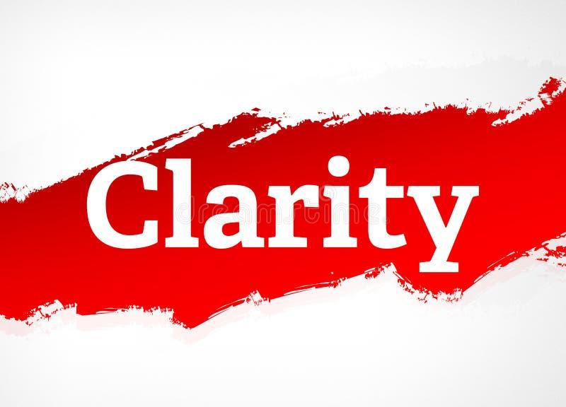 Ilustração vermelha do fundo do sumário da escova da claridade ilustração stock