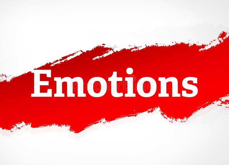 Ilustração vermelha do fundo do sumário da escova das emoções ilustração royalty free