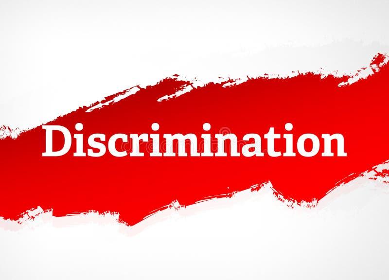Ilustração vermelha do fundo do sumário da escova da discriminação ilustração do vetor