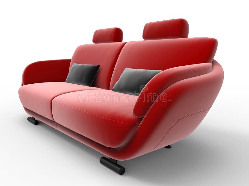 Ilustração vermelha do sofá ilustração stock