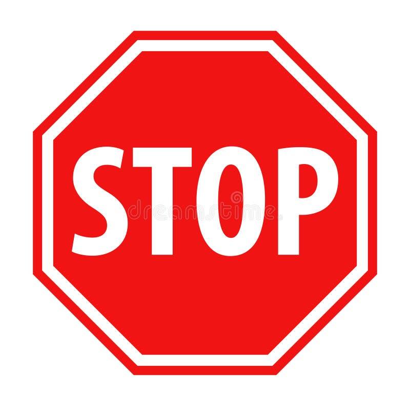 Ilustração vermelha do vetor do ícone do sinal da parada ilustração royalty free