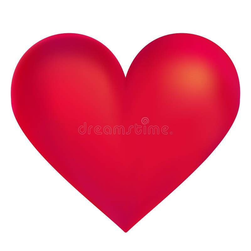 Ilustração vermelha do vetor do coração ilustração do vetor