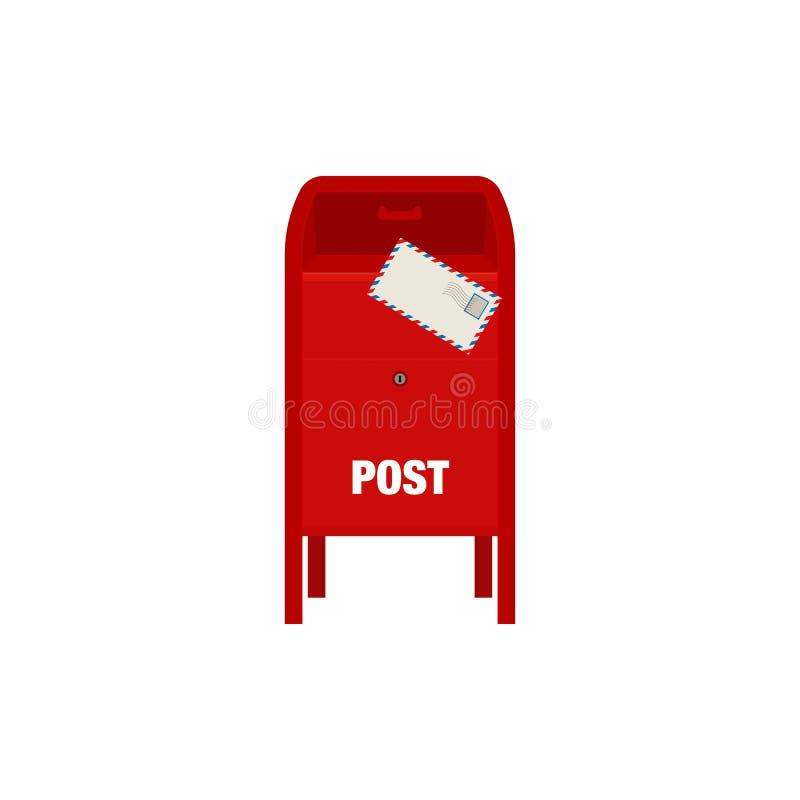 Ilustração vermelha do vetor da caixa do cargo do correio ilustração do vetor