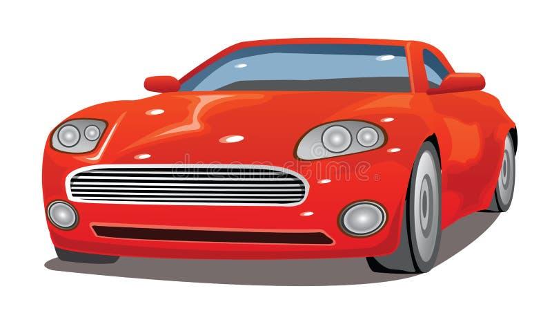 Ilustração vermelha extravagante do carro ilustração royalty free