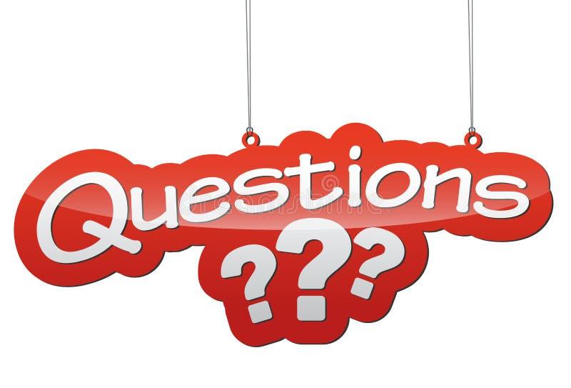 Ilustração vermelha - perguntas de etiqueta do fundo fotos de stock