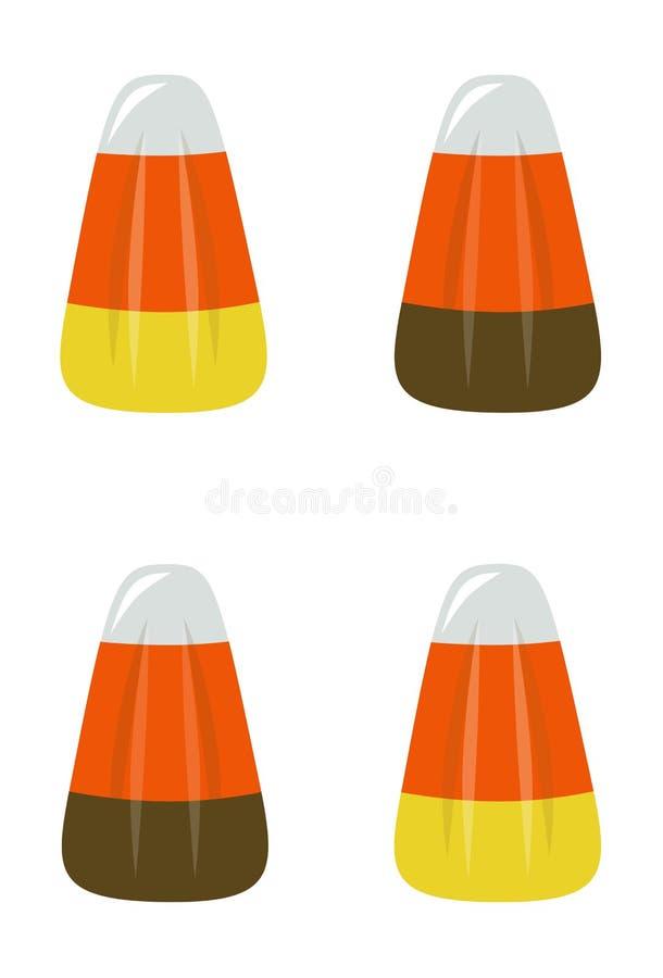 Ilustração vertical do vetor do milho de doces no fundo branco 1 ilustração stock