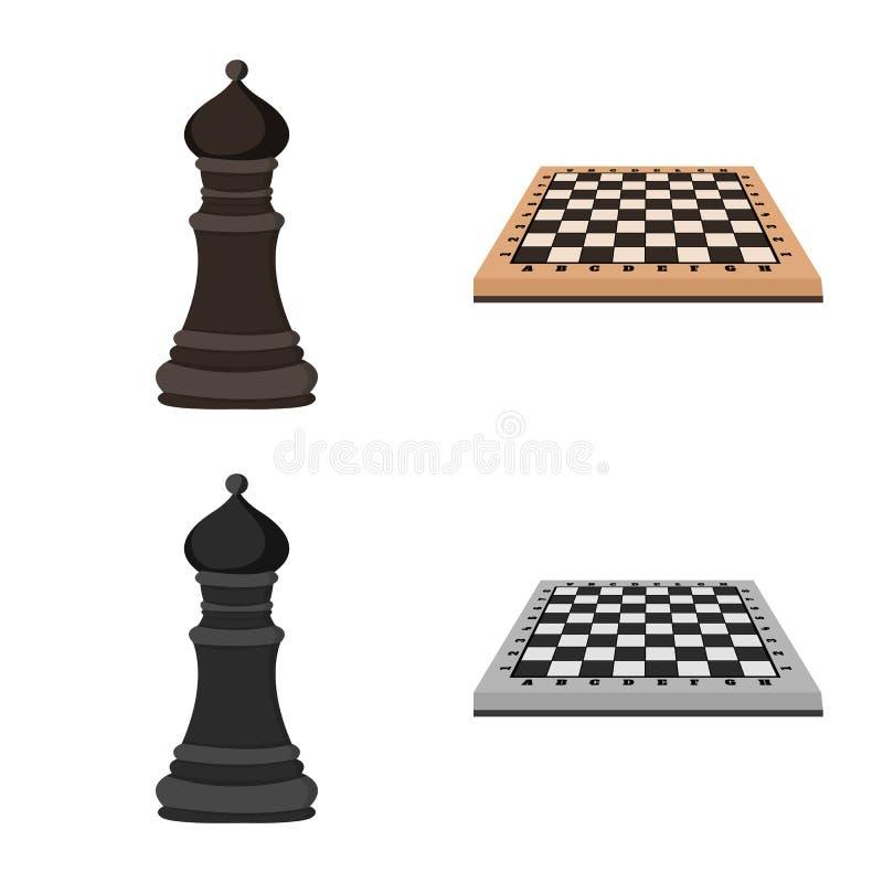 Ilustração vetorial de checkmate e logotipo fino Coleção de checkmate e ilustração do vetor de estoque de destino ilustração do vetor