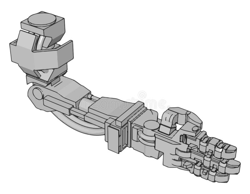 Ilustração vetorial de um braço robótico ilustração do vetor