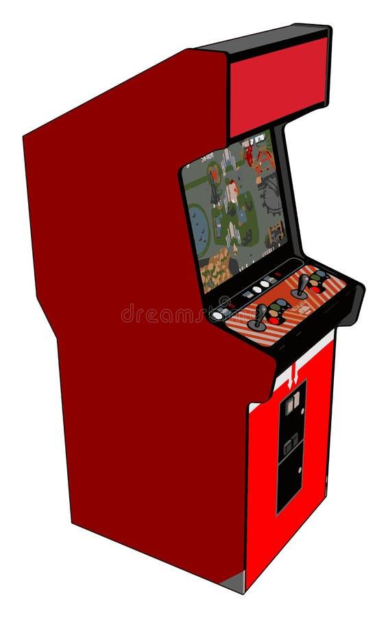 Ilustração vetorial de vídeo game vermelho de Vintage ilustração stock