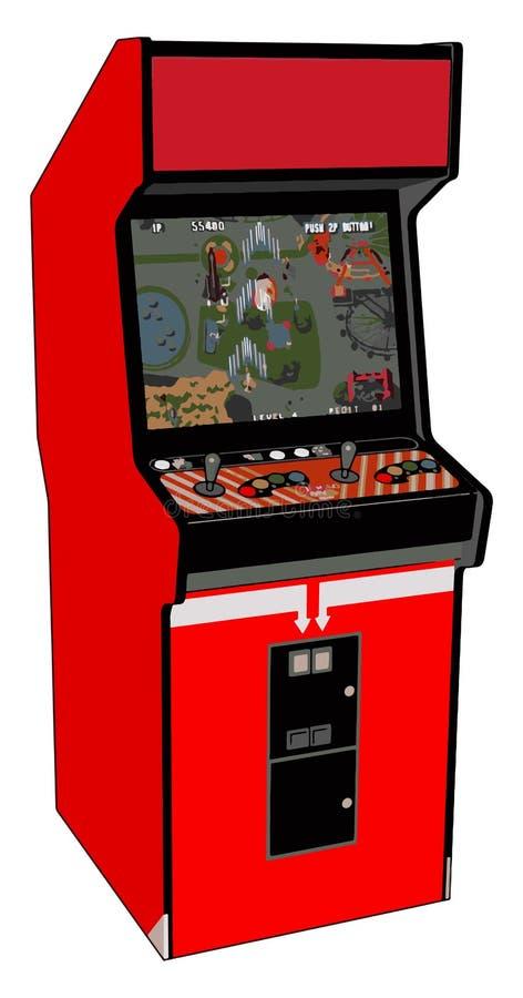 Ilustração vetorial de vídeo game vermelho de Vintage ilustração do vetor