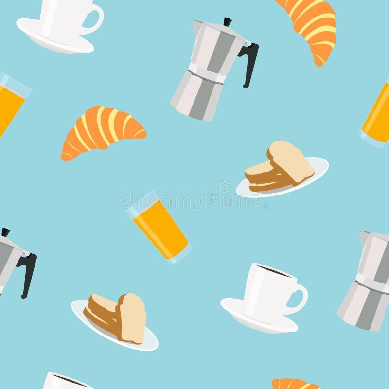 Ilustração vetorial do Breakfast - Considerado padrão sem aparência ilustração stock