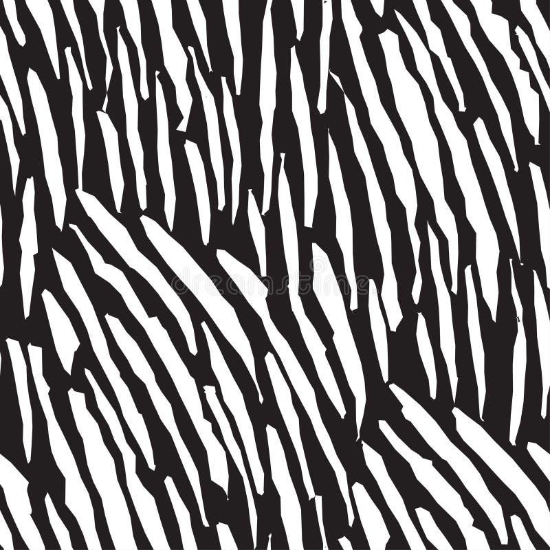 Ilustração vetorial do desenho de padrões de zebra sem descontinuidades ilustração stock