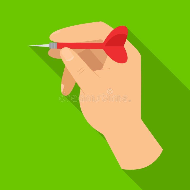 Ilustração vetorial do sinal de mão e dart Elemento Web da ilustração do vetor de estoque manual e de braço ilustração royalty free