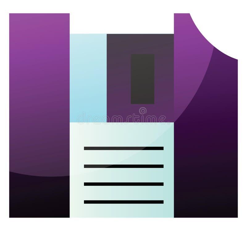 Ilustração vetorial simples de disquete roxo em um ilustração royalty free
