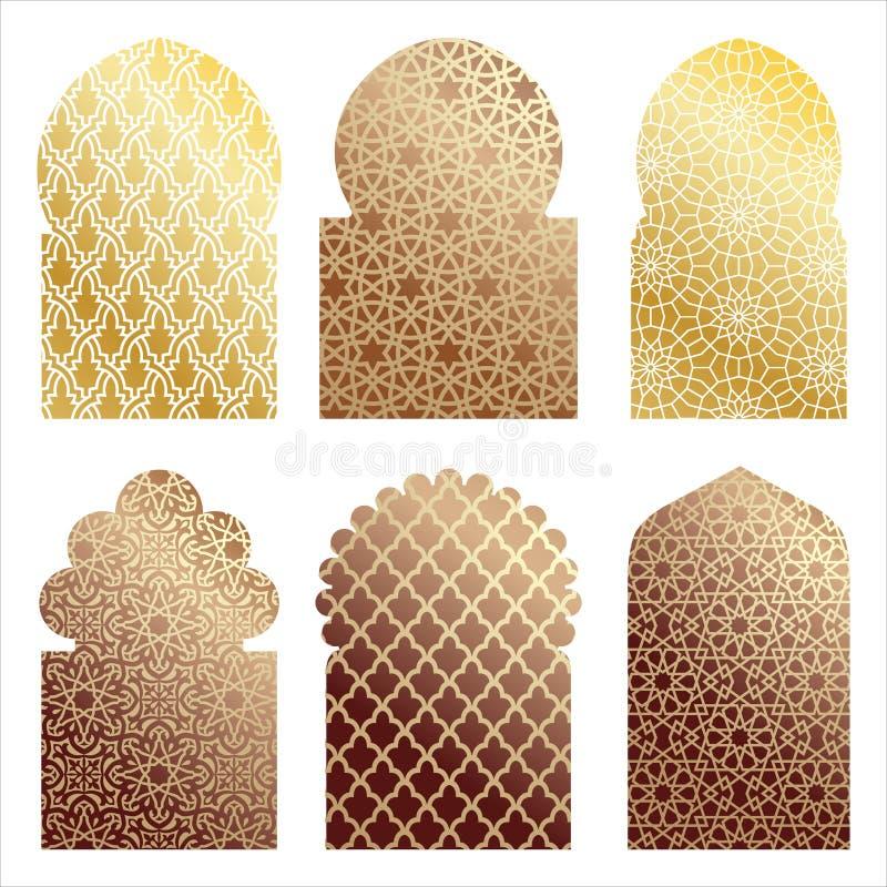 Ilustrações árabes da janela ilustração stock