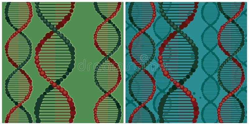 Ilustrações da hélice dobro do ADN ilustração stock
