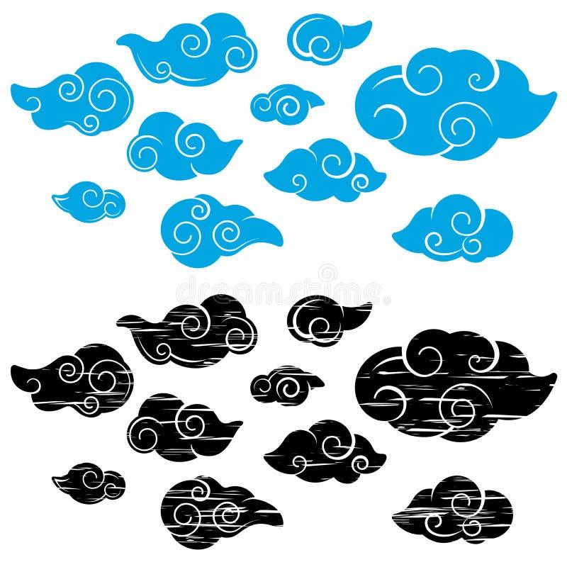 Ilustrações da nuvem ilustração royalty free