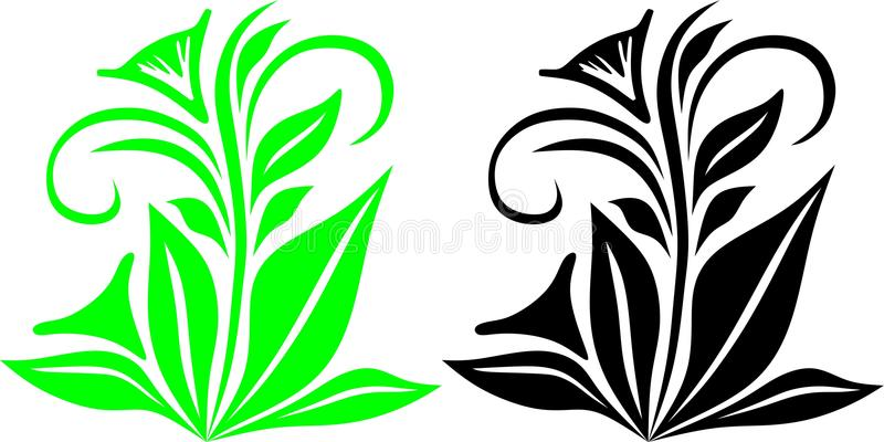Ilustrações da planta verde ilustração stock