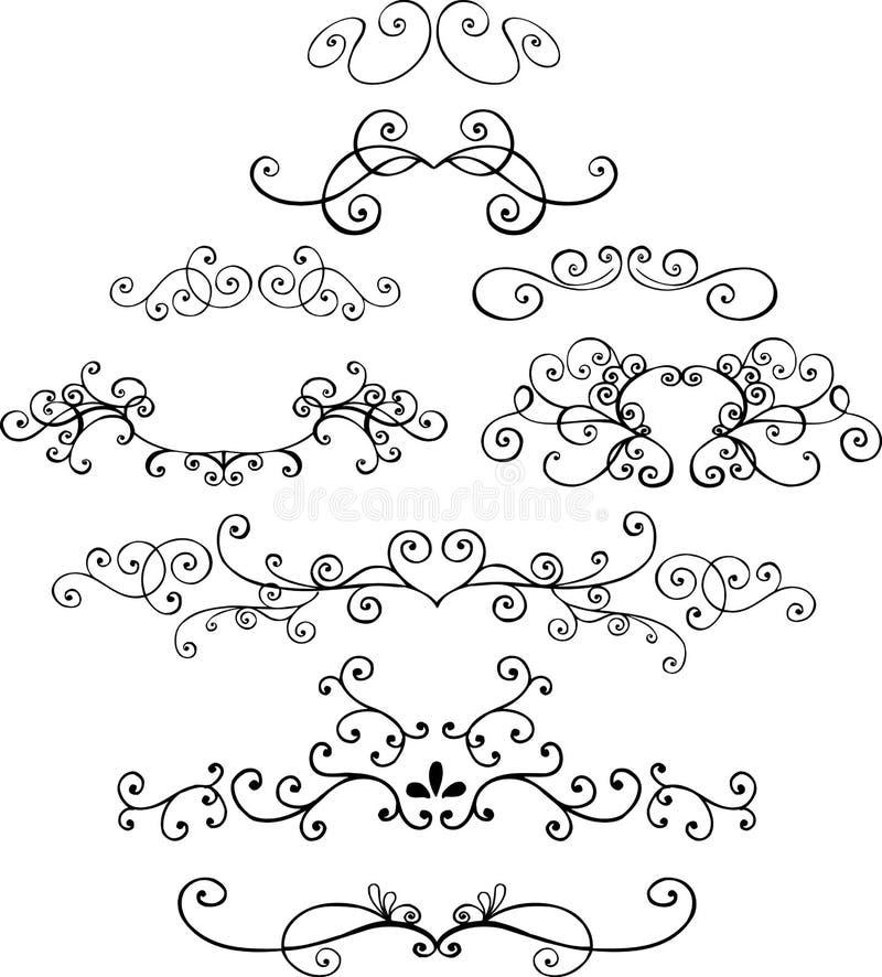 Ilustrações decorativas ilustração royalty free