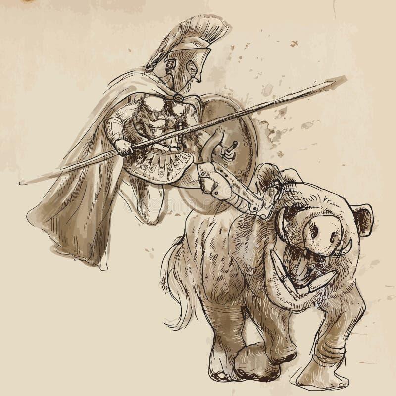 Hercules ilustração stock