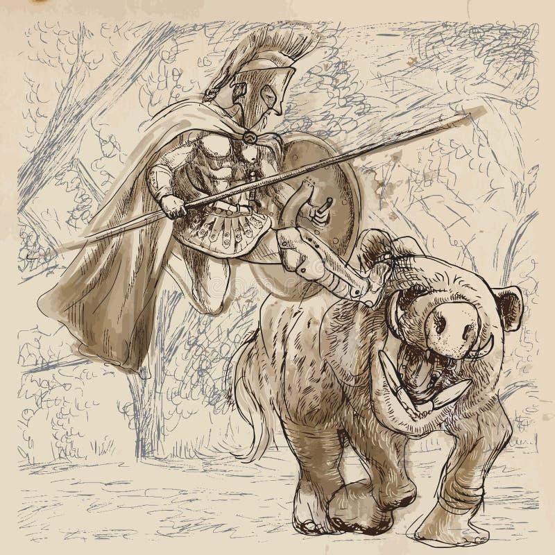 Hercules ilustração royalty free