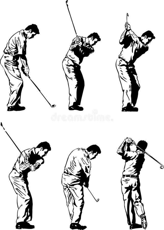 Ilustrações do balanço do golfe ilustração do vetor