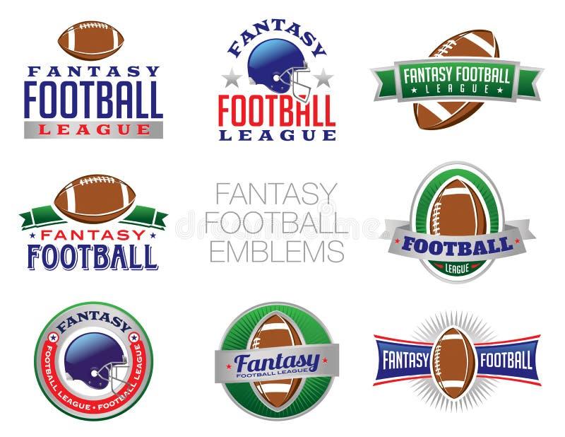 Ilustrações do emblema do futebol da fantasia ilustração do vetor