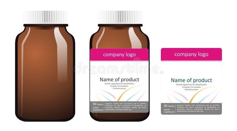 Ilustrações do frasco da medicina imagens de stock