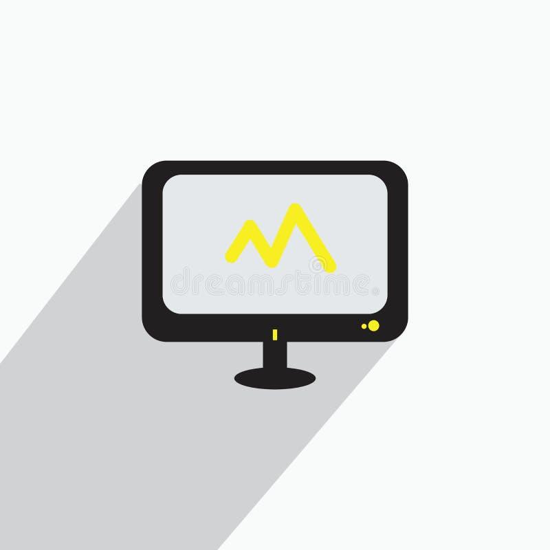 Ilustrações do jogo do monitor ou conceito do logotipo do ícone ilustração royalty free