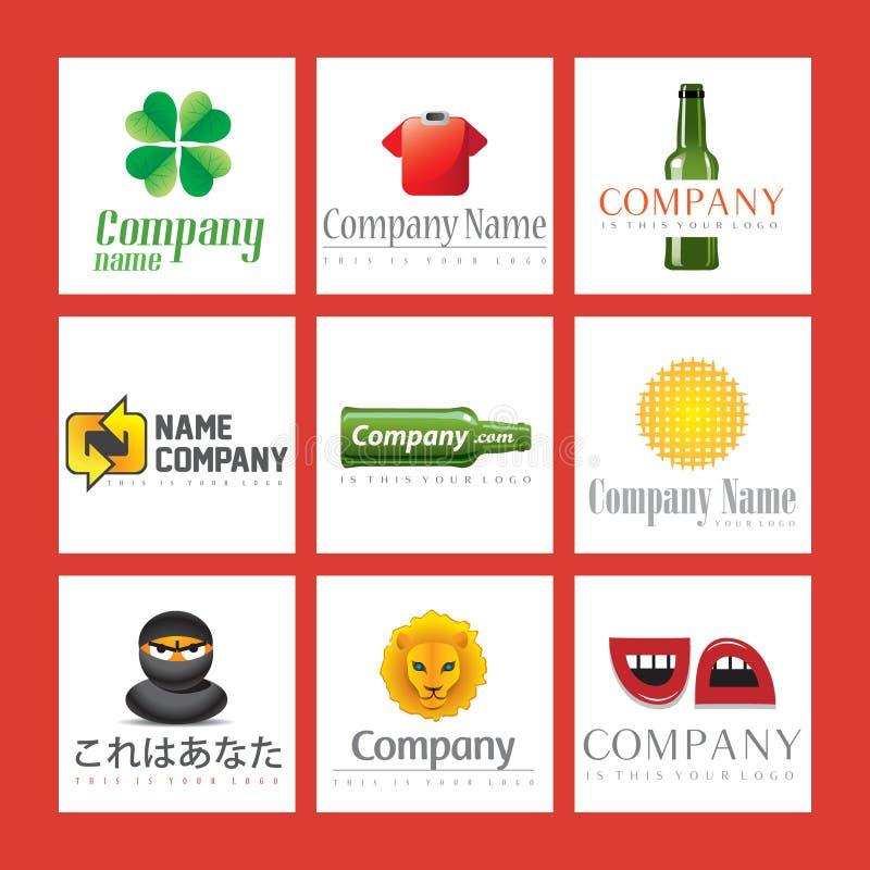 Ilustrações do logotipo da companhia ilustração stock