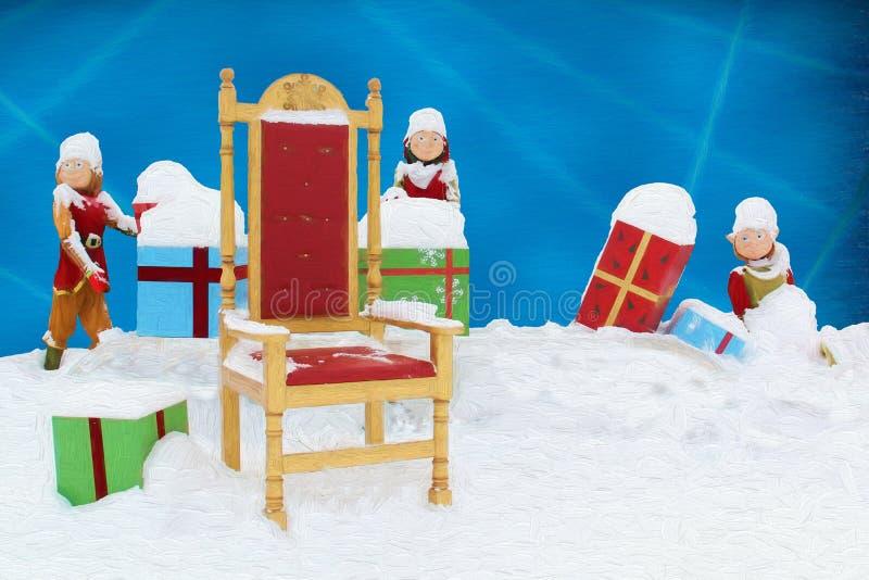 Ilustrações do Natal para crianças e os feriados ilustração stock