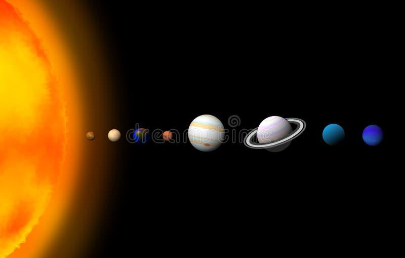 Ilustrações do papel de parede do projeto gráfico de sistema solar ilustração stock