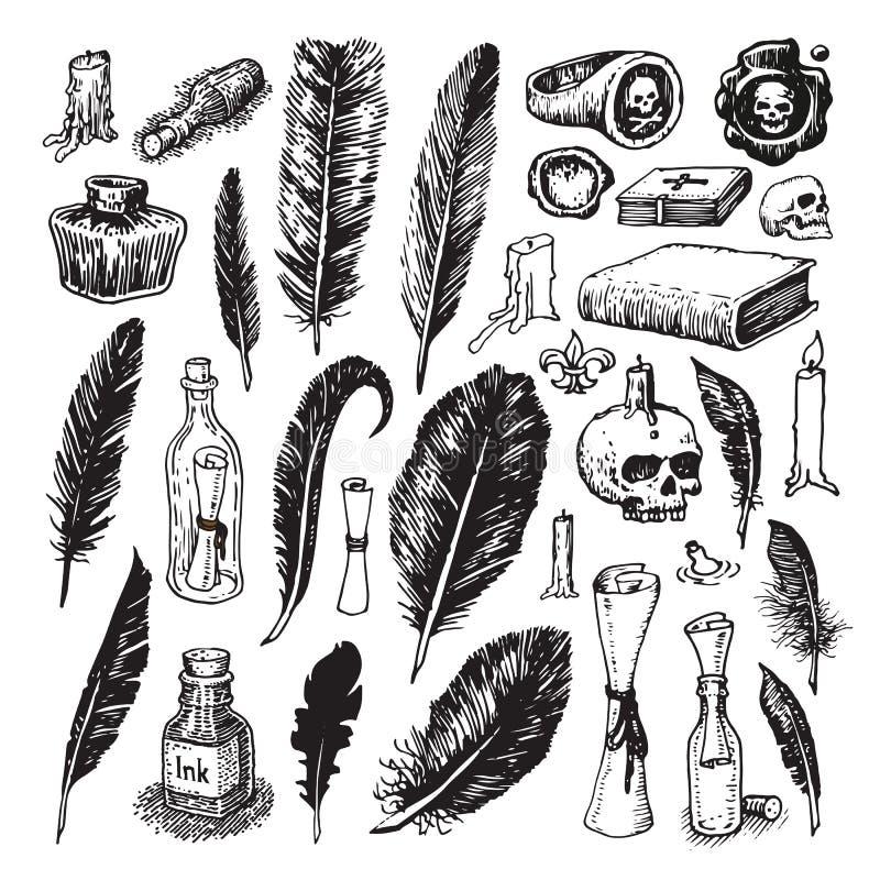 Ilustrações do pirata ilustração do vetor