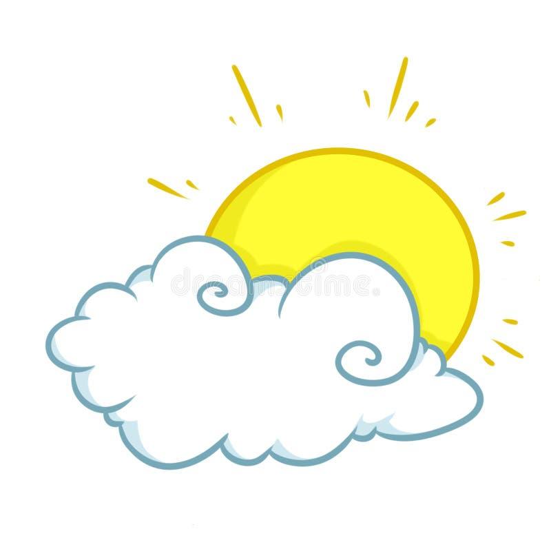 Ilustrações do sol da nuvem ilustração royalty free
