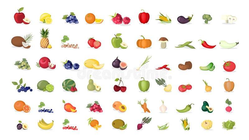 Ilustrações dos frutos ajustadas ilustração royalty free