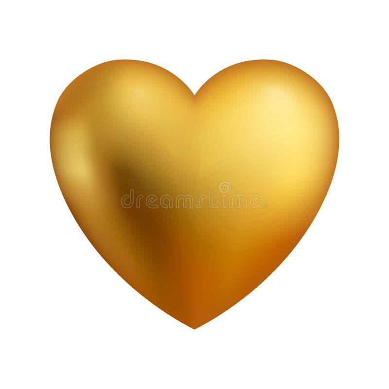 Ilustrações lustrosas vermelhas do vetor do coração O coração como um símbolo do amor ilustração royalty free