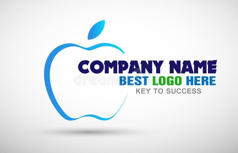Ilustrações pomiformes do ícone do logotipo do negócio para o logotipo do negócio da empresa ilustração royalty free