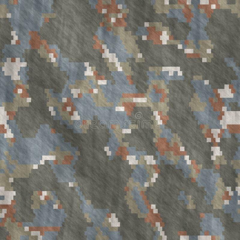 Ilustrações sem emenda Sumário do teste padrão da camuflagem de matéria têxtil imagens de stock royalty free