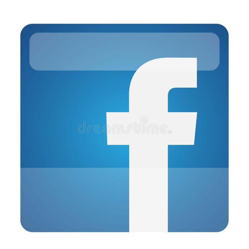 Ilustra??es do vetor do ?cone do logotipo de Facebook no fundo branco ilustração stock