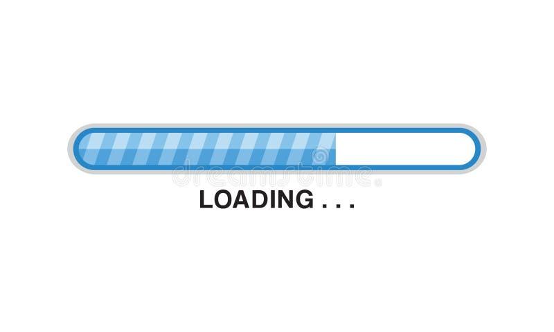Ilustra??o azul do vetor da barra de carga do progresso ilustração stock