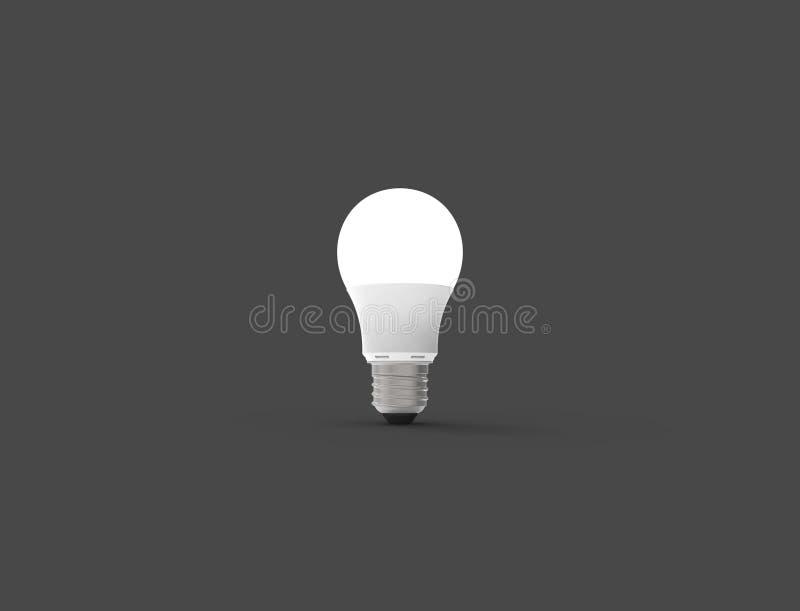 ilustra??o 3D de uma ampola do diodo emissor de luz no fundo do est?dio ilustração royalty free