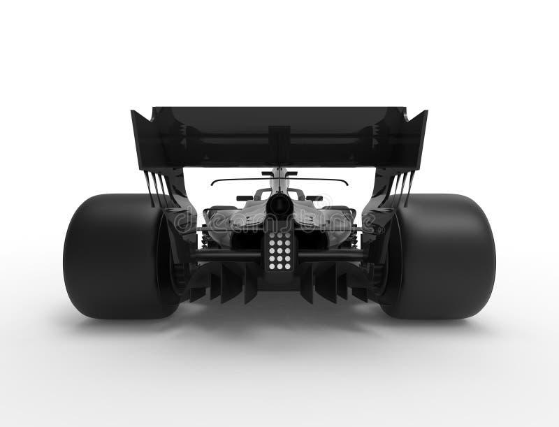 ilustra??o da rendi??o 3D de um tudo carro desportivo preto da ra?a da f?rmula ilustração stock
