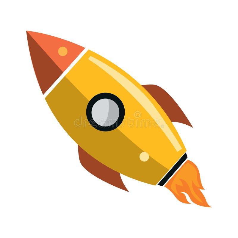 Ilustra??o de um foguete Rocket Flat Illustration ilustração stock