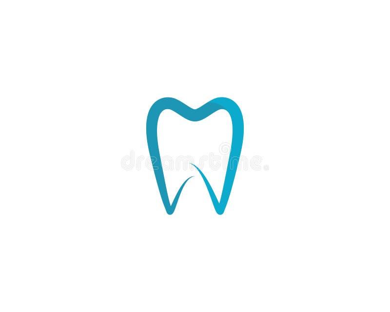 Ilustra??o dental do vetor do molde do logotipo ilustração stock