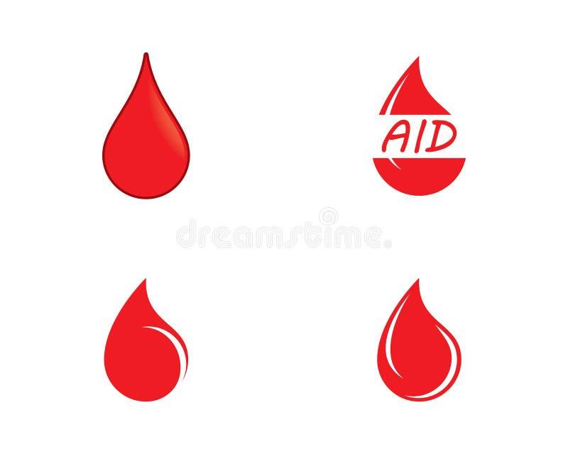 Ilustra??o do ?cone do sangue ilustração stock