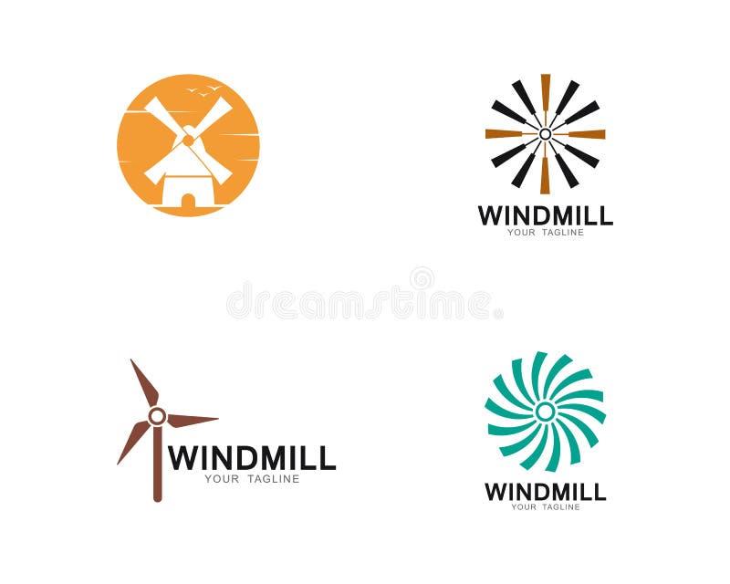 Ilustra??o do ?cone do vetor do molde do logotipo do moinho de vento ilustração do vetor