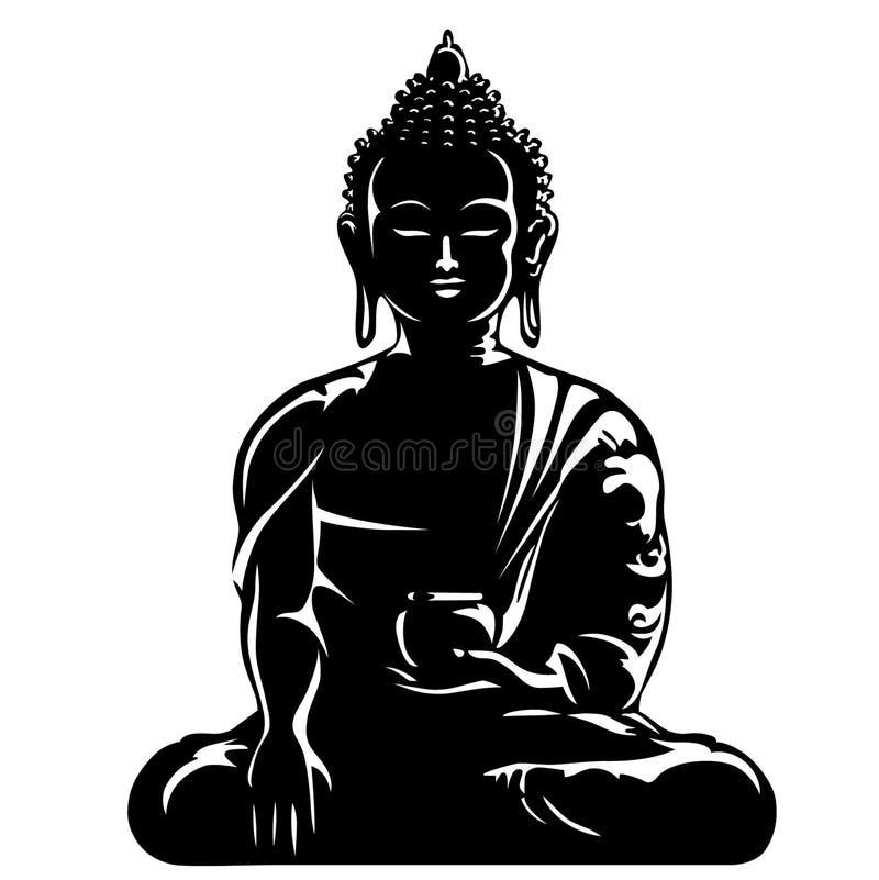 Ilustra??o do eps do vetor da Buda por crafteroks ilustração do vetor
